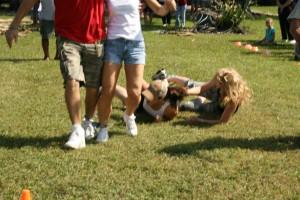 Three legged race