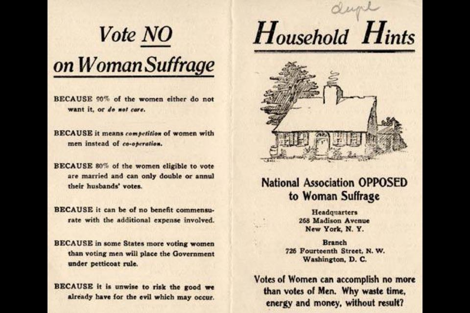 """""""Vote No on Suffrage: 90% don't care"""""""