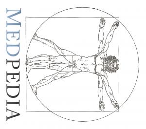 Medpedia logo tipped over