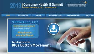 Screen grab of ONC consumer kickoff website