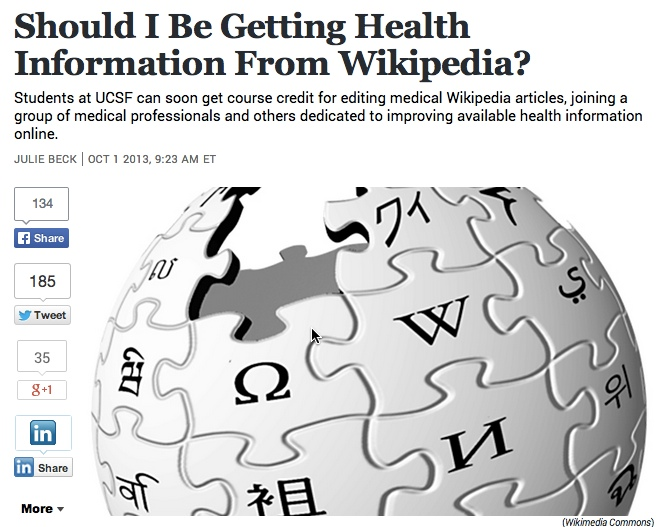 WikiProject Medicine: med students join in producing high quality Wikipedia articles. (You can, too.)