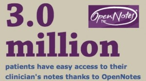 OpenNotes July 2014 3 million patients
