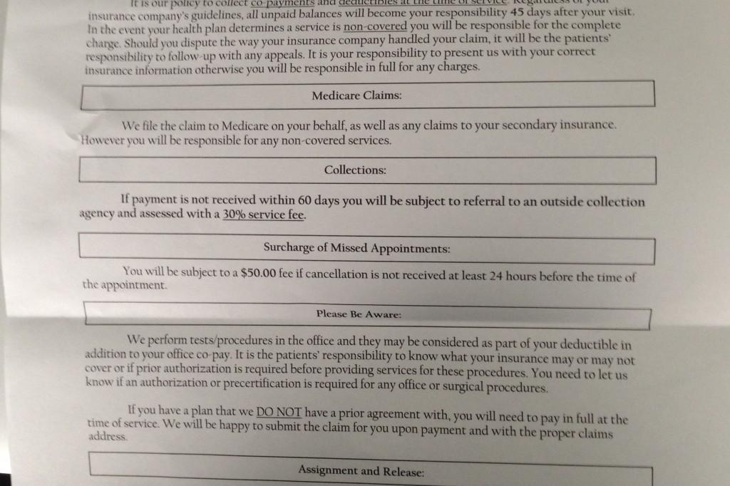 image of HIPAA form