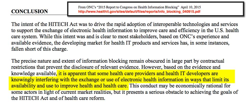 ONC April 10 report conclusion