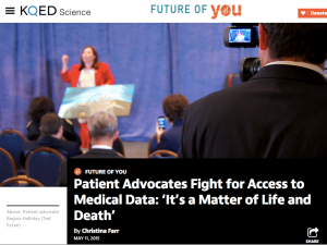 Screen capture of KQED post