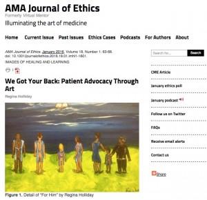 AMA Ethics article screen capture