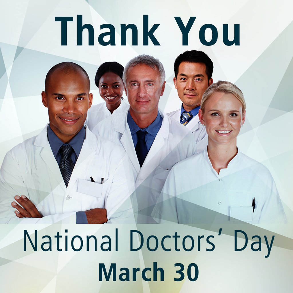 National Doctors' day card