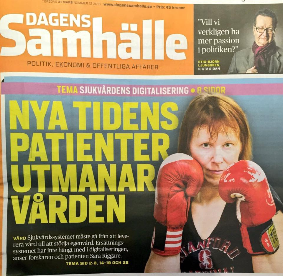 Sara Riggare newspaper front page