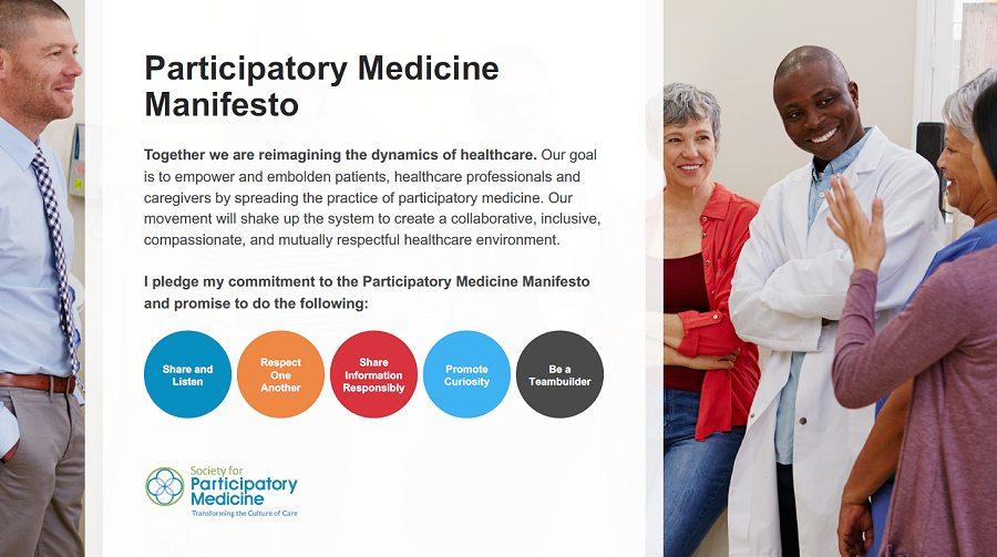 The Participatory Medicine Manifesto