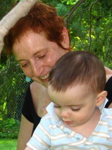 "Judy with nephew Zack, from her ""Patient Wisdom"" blog, November 2007"