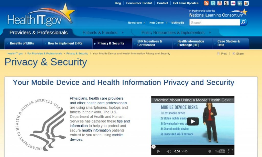 HealthIT.gov mobile security header (click to go to site)