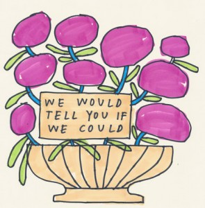 """Illustration on Times site: """"We would tell you if we could"""""""